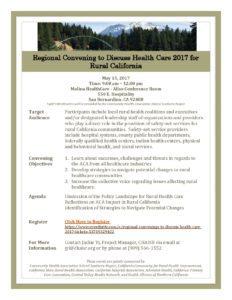 May 2017 Regional Rural Health Convening